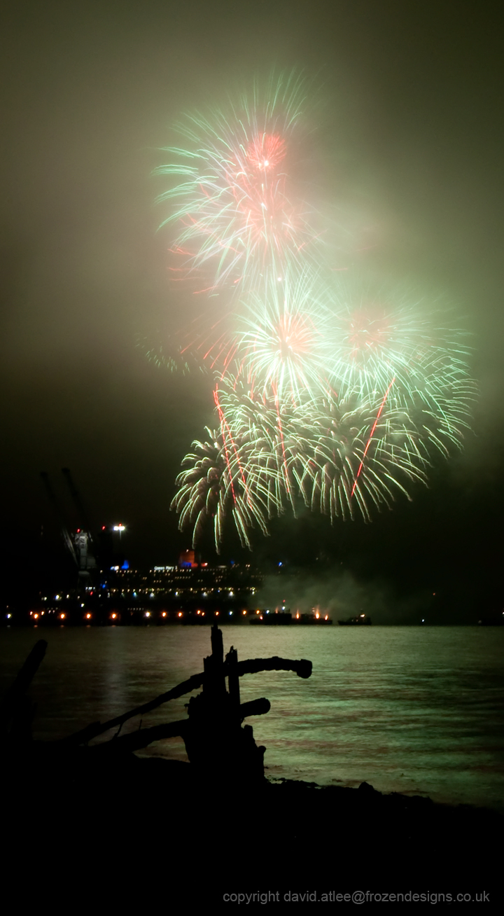 Fireworks over Southampton Docks